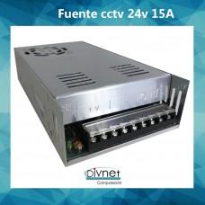 Fuente Alimentacion Metalica 24v 15amp Cctv Led