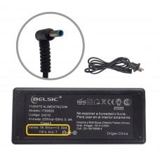 Cargador Belsic P/ Hp Pin Azul 19,5v 3,3a 4,5*2,7