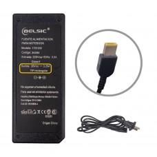 Cargador Belsic P/Lenovo Pin Rectangular 20v 3,25a