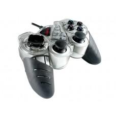 Joystick Pc Usb Cliptec Dual Vibration Game Gris