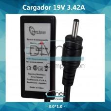 Cargador Safety Asus 19v 3,42a 3,0*1,0 Pin Netbook