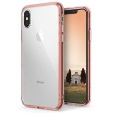 Funda Iphone X Pc Y Tpu Transp Rosa Pure