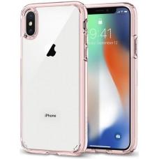 Funda Iphone X Pc + Tpu Borde Rosa Clarity
